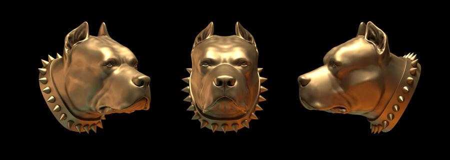 köpek kafası koleksiyonu royalty-free 3d model - Preview no. 9