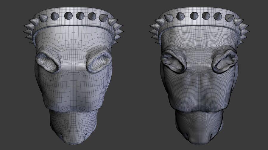 köpek kafası koleksiyonu royalty-free 3d model - Preview no. 11