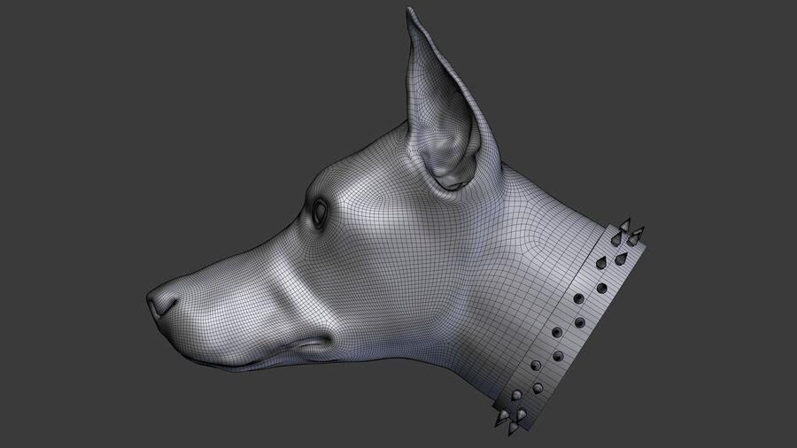 köpek kafası koleksiyonu royalty-free 3d model - Preview no. 5