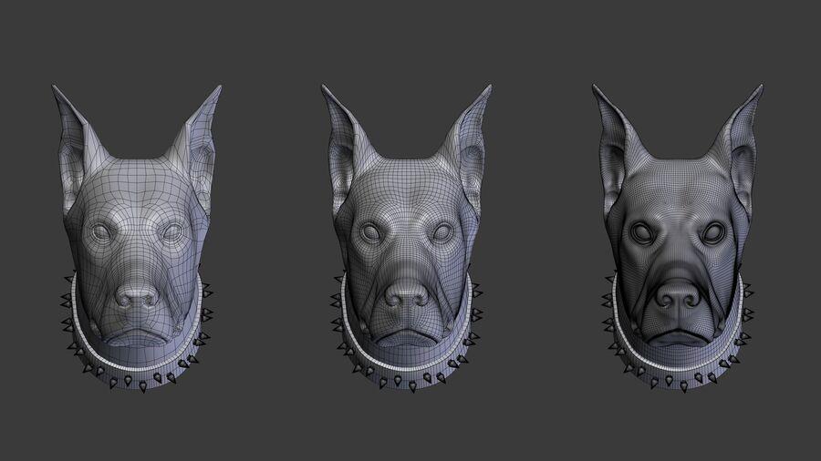 köpek kafası koleksiyonu royalty-free 3d model - Preview no. 3