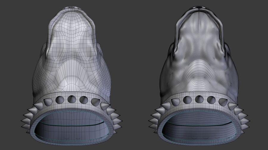köpek kafası koleksiyonu royalty-free 3d model - Preview no. 14