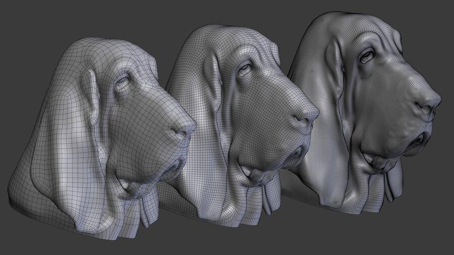 köpek kafası koleksiyonu royalty-free 3d model - Preview no. 40