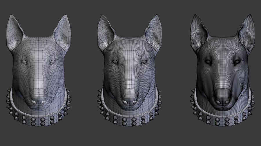 köpek kafası koleksiyonu royalty-free 3d model - Preview no. 16