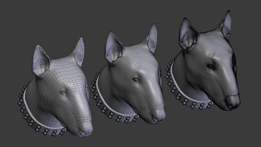 köpek kafası koleksiyonu royalty-free 3d model - Preview no. 20