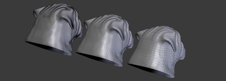 köpek kafası koleksiyonu royalty-free 3d model - Preview no. 29