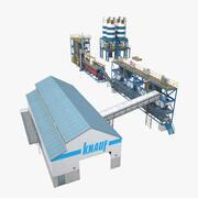 fábrica de cimento 3d model