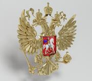 armoiries Fédération de Russie 3d model