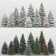 10 + 10のクリスマスツリー 3d model