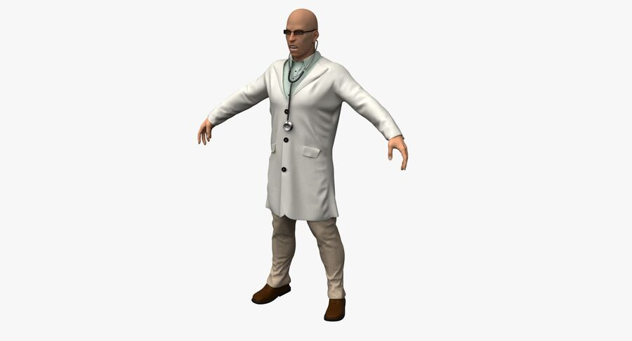 Doctor Character royalty-free 3d model - Preview no. 2