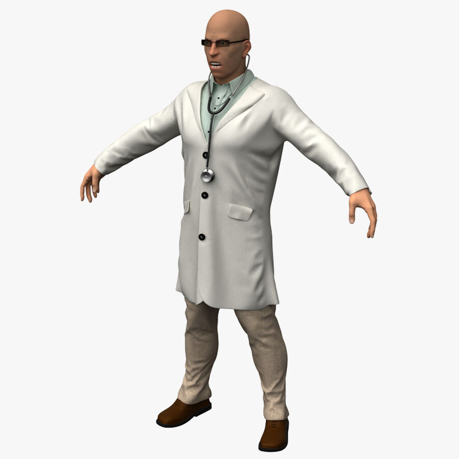 Doctor Character royalty-free 3d model - Preview no. 1