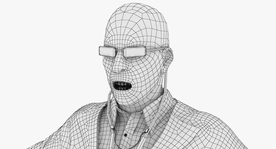 Doctor Character royalty-free 3d model - Preview no. 22