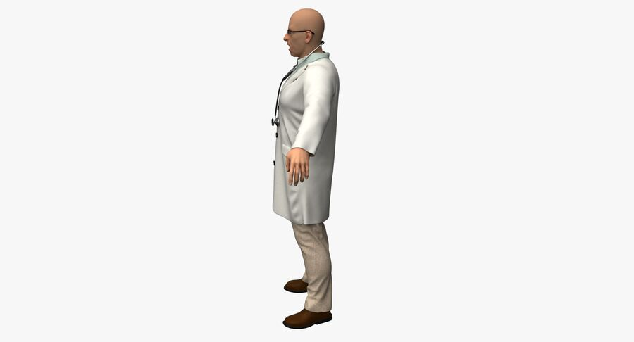 Doctor Character royalty-free 3d model - Preview no. 9