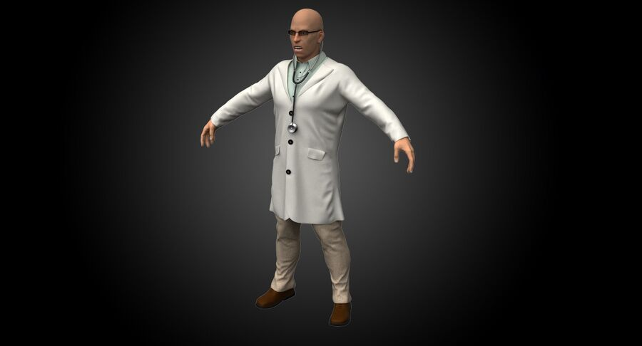 Doctor Character royalty-free 3d model - Preview no. 3