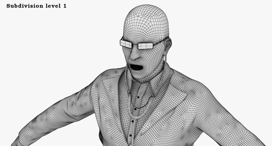 Doctor Character royalty-free 3d model - Preview no. 30