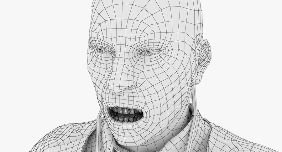 Doctor Character royalty-free 3d model - Preview no. 23