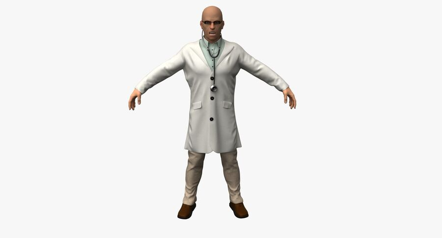 Doctor Character royalty-free 3d model - Preview no. 4