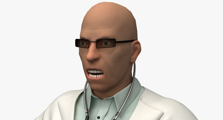 Doctor Character royalty-free 3d model - Preview no. 11