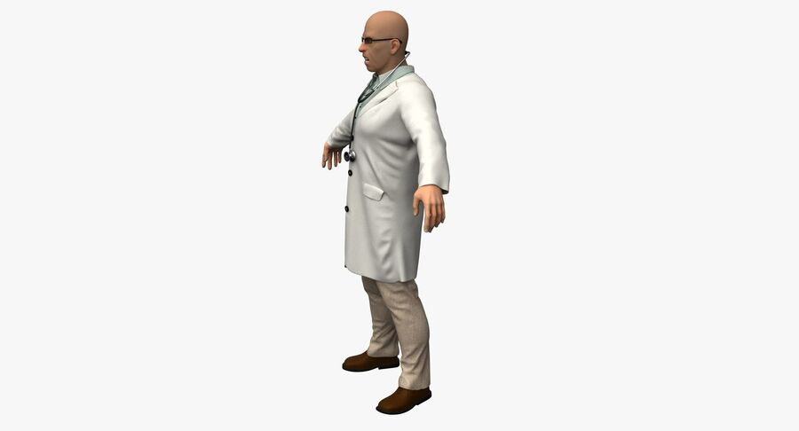 Doctor Character royalty-free 3d model - Preview no. 10