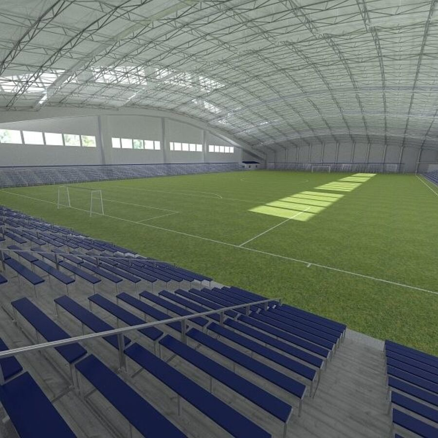 Football (Soccer) Indoor Arena royalty-free 3d model - Preview no. 1