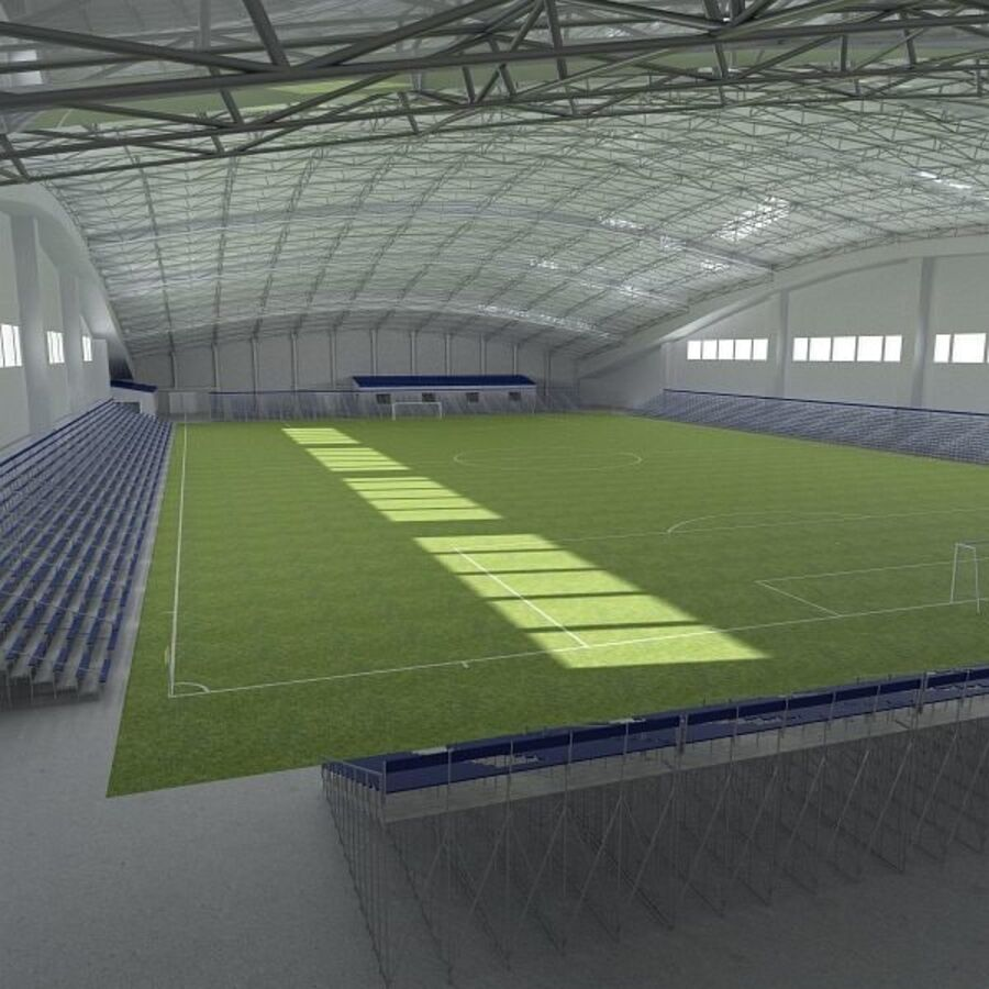 Football (Soccer) Indoor Arena royalty-free 3d model - Preview no. 5