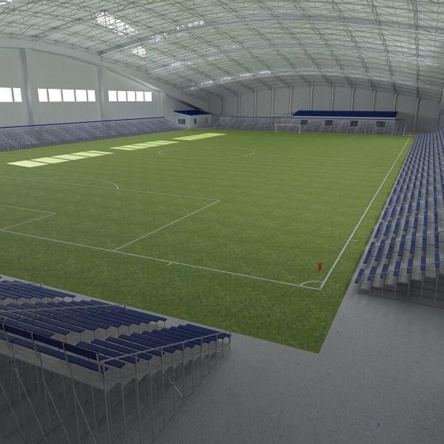 Football (Soccer) Indoor Arena royalty-free 3d model - Preview no. 6