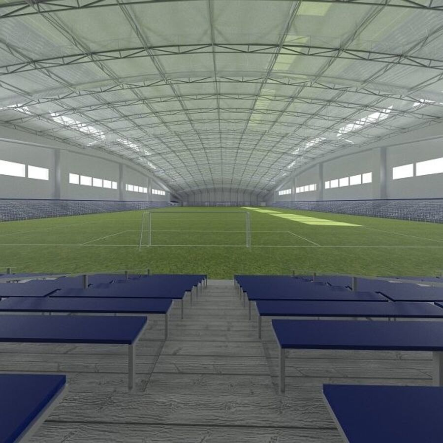 Football (Soccer) Indoor Arena royalty-free 3d model - Preview no. 4
