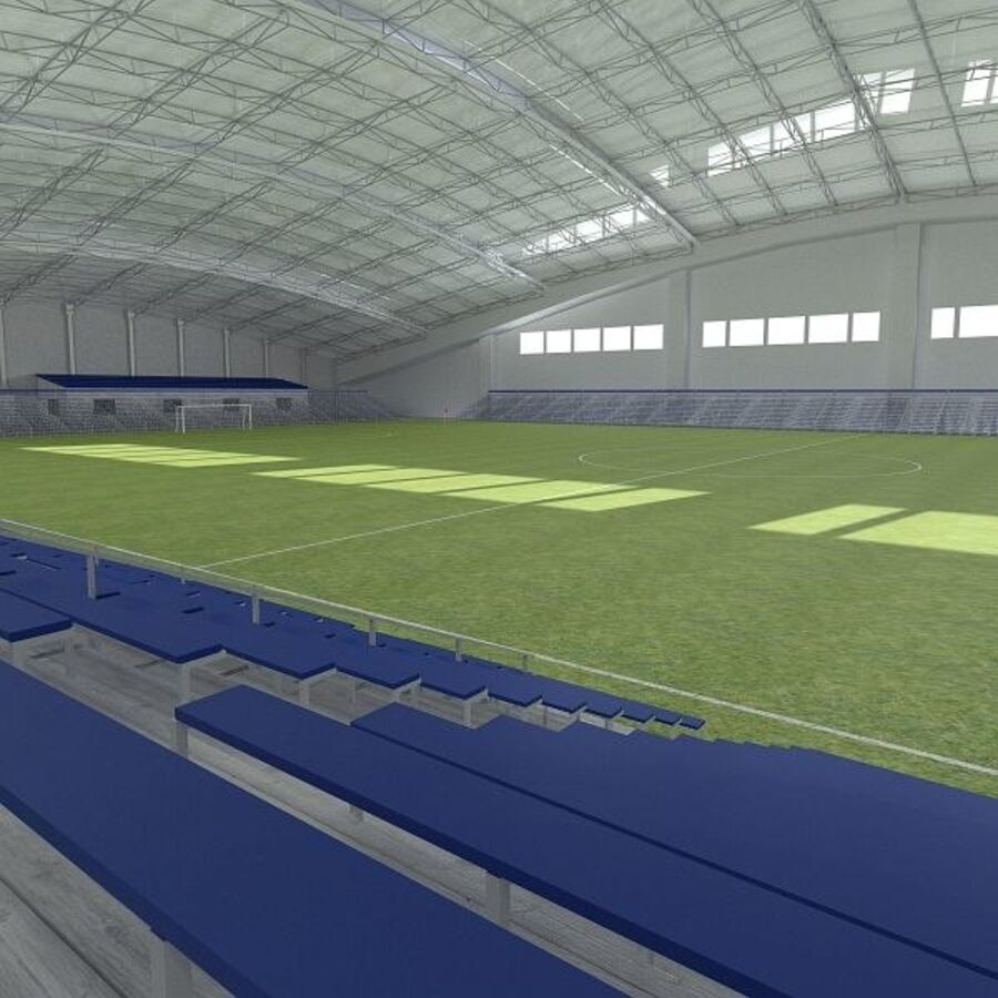 Football (Soccer) Indoor Arena royalty-free 3d model - Preview no. 2