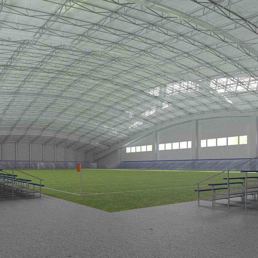 Football (Soccer) Indoor Arena royalty-free 3d model - Preview no. 3