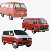 VW Minibus Collection 3d model
