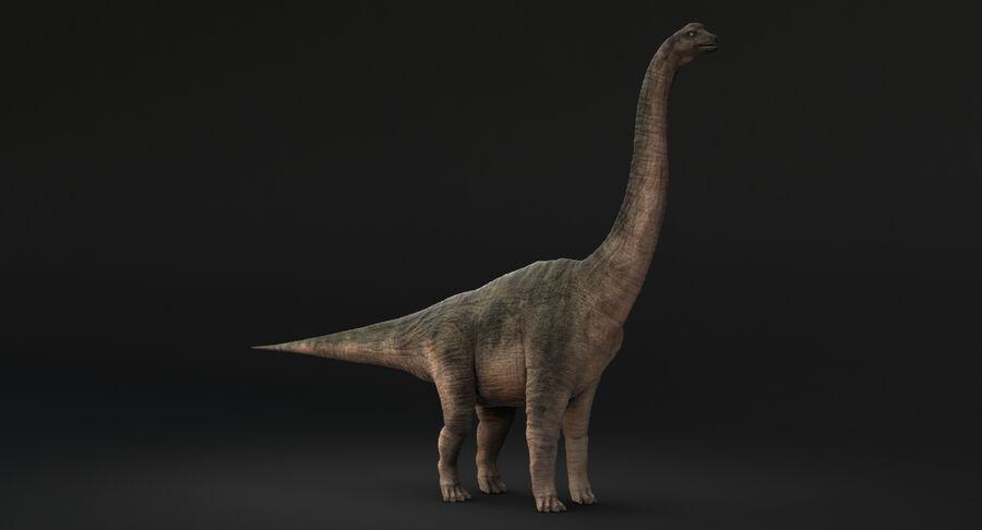 Brachiosaurus royalty-free 3d model - Preview no. 10