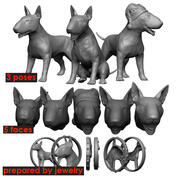bull terrier 3d model