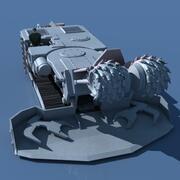 Ciągły górnik węgla 3d model