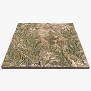 Spanje Heuvels Landschap 3d model
