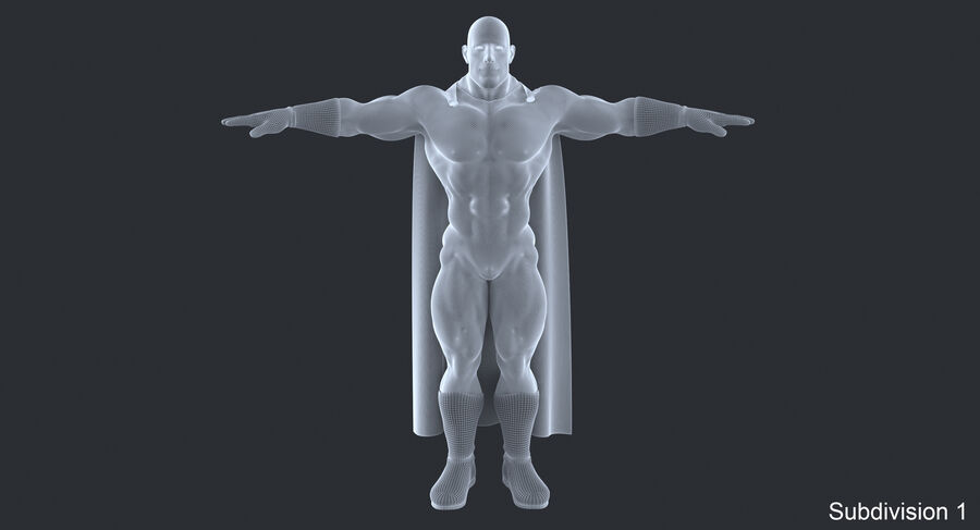 Super Hero royalty-free 3d model - Preview no. 16