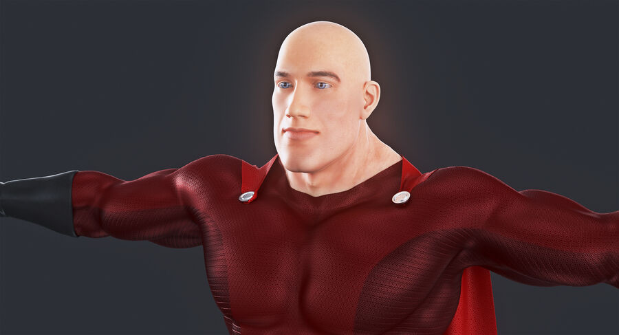 Super Hero royalty-free 3d model - Preview no. 8