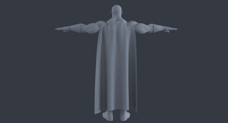 Super Hero royalty-free 3d model - Preview no. 14
