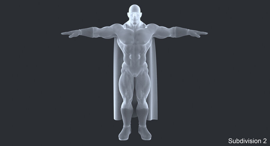 Super Hero royalty-free 3d model - Preview no. 17