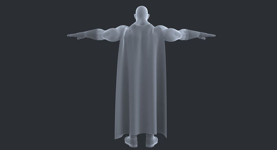 Super Hero royalty-free 3d model - Preview no. 18