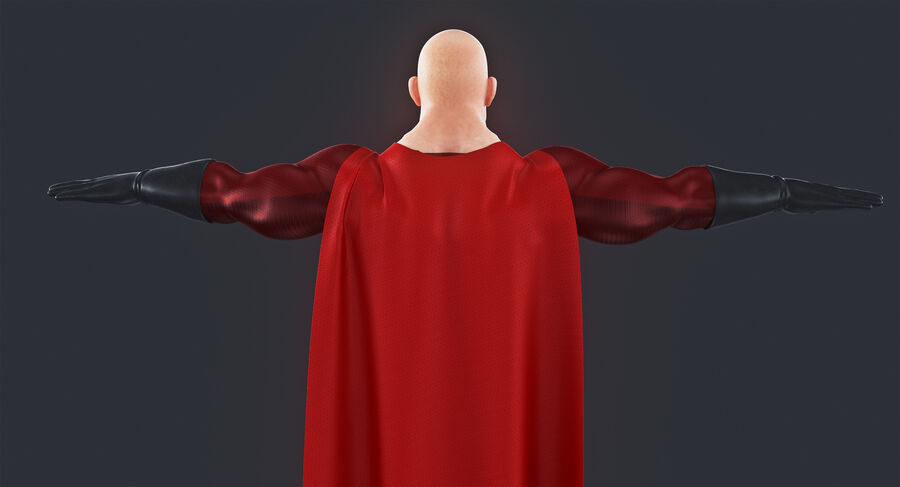 Super Hero royalty-free 3d model - Preview no. 5