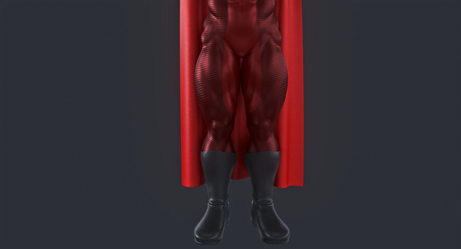 Super Hero royalty-free 3d model - Preview no. 6