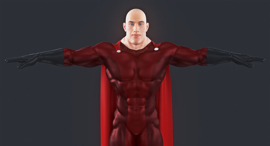 Super Hero royalty-free 3d model - Preview no. 4