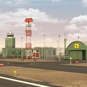 军用飞机场 3d model