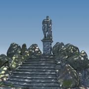 Cena da escultura de Hércules 3d model