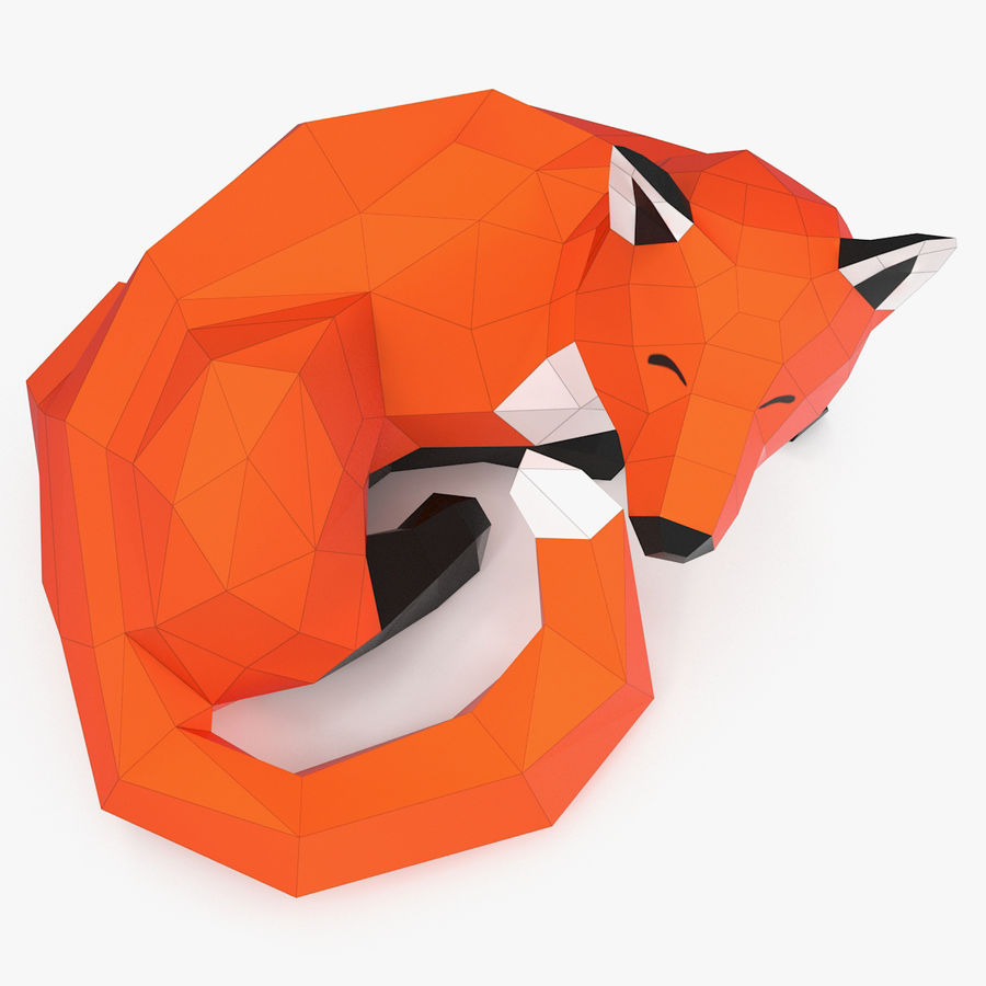 Fox Papercraft royalty-free 3d model - Preview no. 2