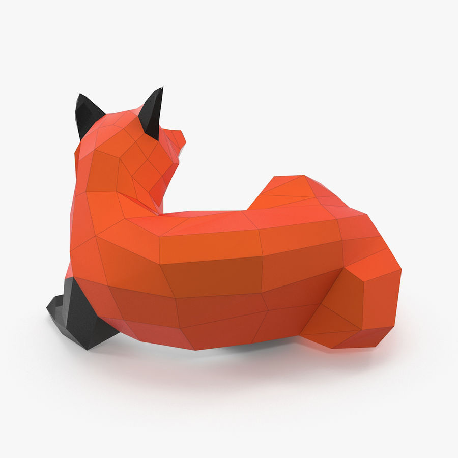 Fox Papercraft royalty-free 3d model - Preview no. 4
