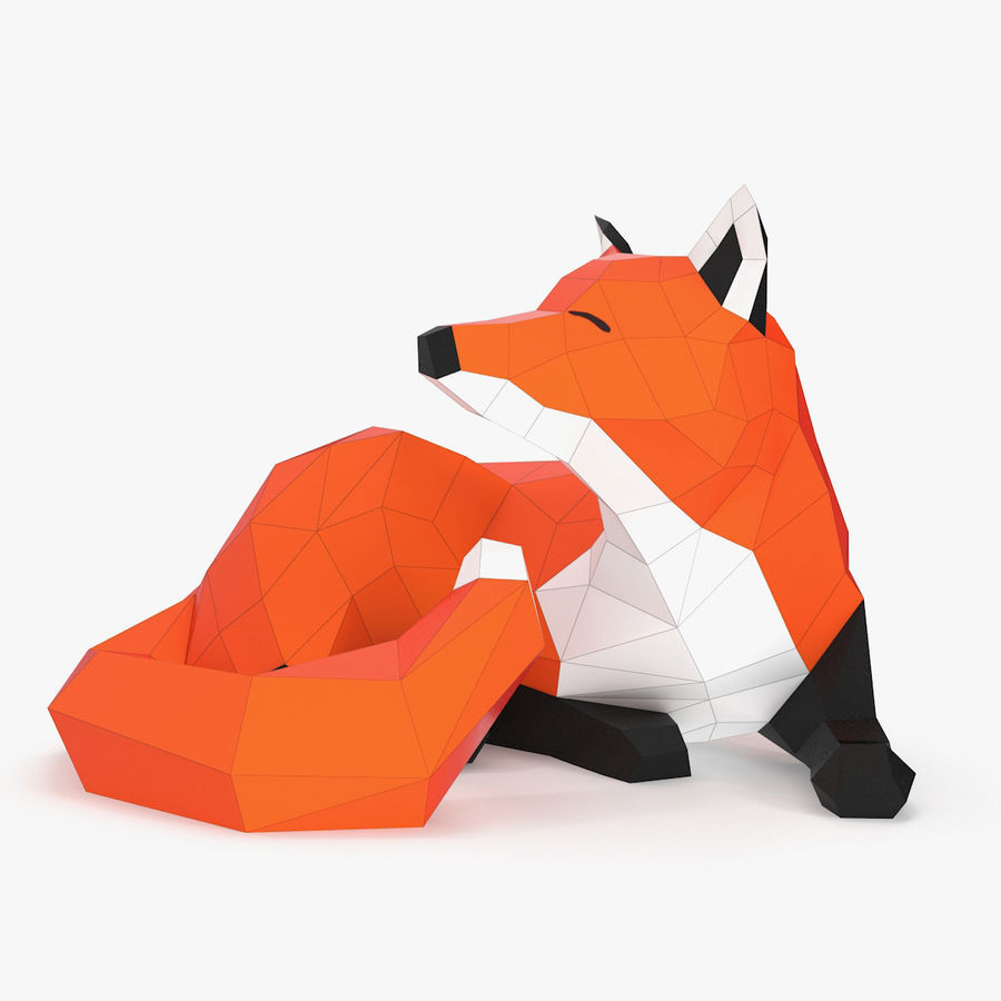 Fox Papercraft royalty-free 3d model - Preview no. 1