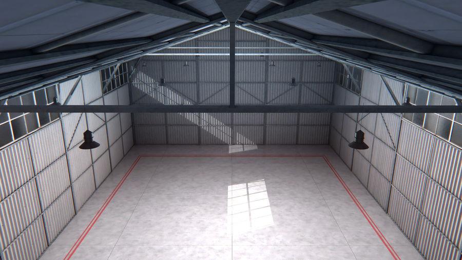Interior del hangar de los aviones royalty-free modelo 3d - Preview no. 4