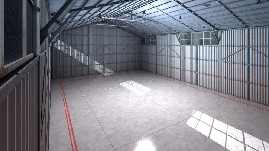 Interior del hangar de los aviones royalty-free modelo 3d - Preview no. 5