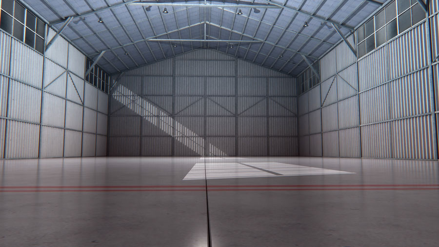 Interior del hangar de los aviones royalty-free modelo 3d - Preview no. 2