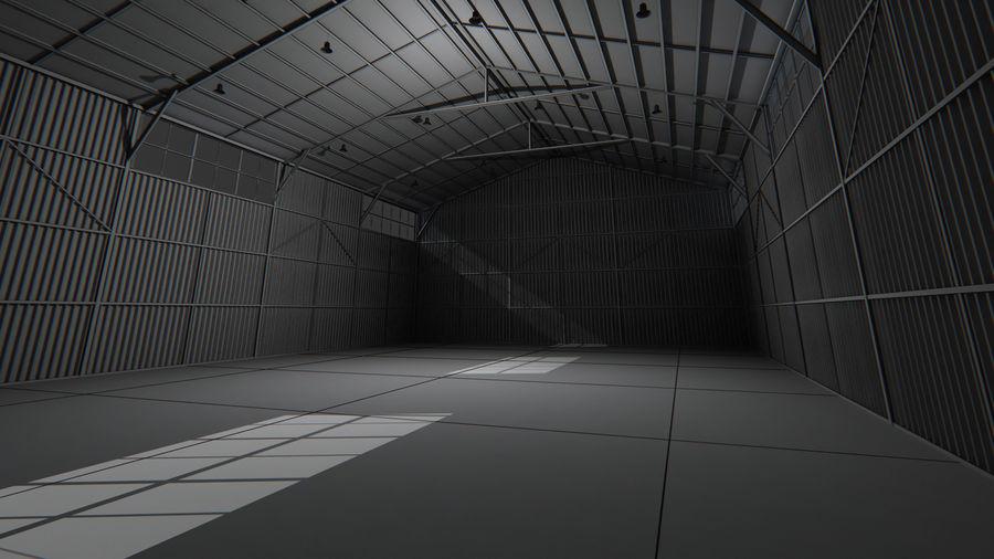 Interior del hangar de los aviones royalty-free modelo 3d - Preview no. 6